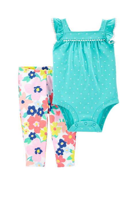 Carter's® Baby Girls 2 Piece Polka Dot Bodysuit