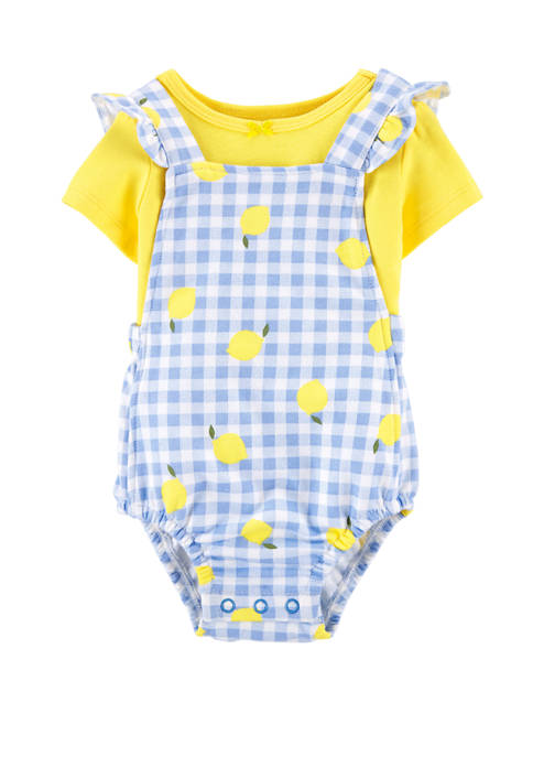 Carter's® Baby Girls 2 Piece Sunsuit Coveralls Set