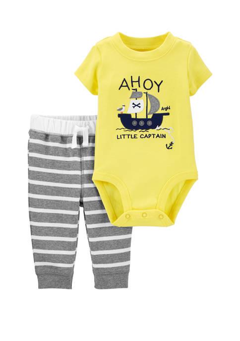 Carter's® Baby Boys 2 Piece Pirate Bodysuit Pants