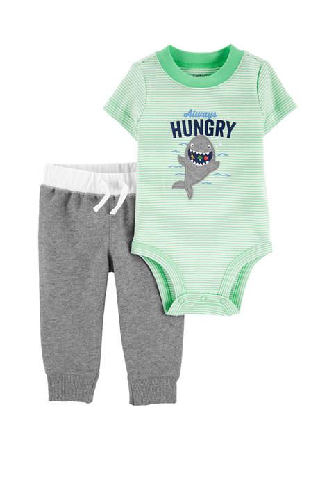 Carter's® Baby Boys 2 Piece Shark Bodysuit Pants
