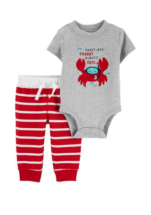 Carter's® Baby Boys 2 Piece Crab Bodysuit Pants