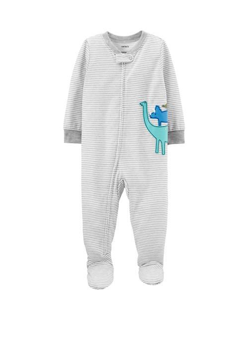 Carter S 174 Baby Boys One Piece Dinosaur Poly Footie Pajamas