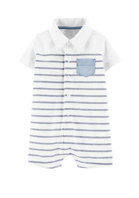 Carter's® Baby Boys Striped Pocket Romper