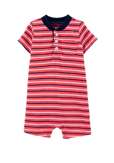 Carter's® Baby Boys Striped Slub Jersey Romper