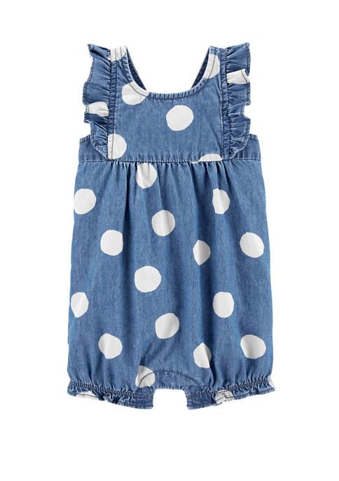 Carter's® Baby Girls Polka Dot Chambray Romper