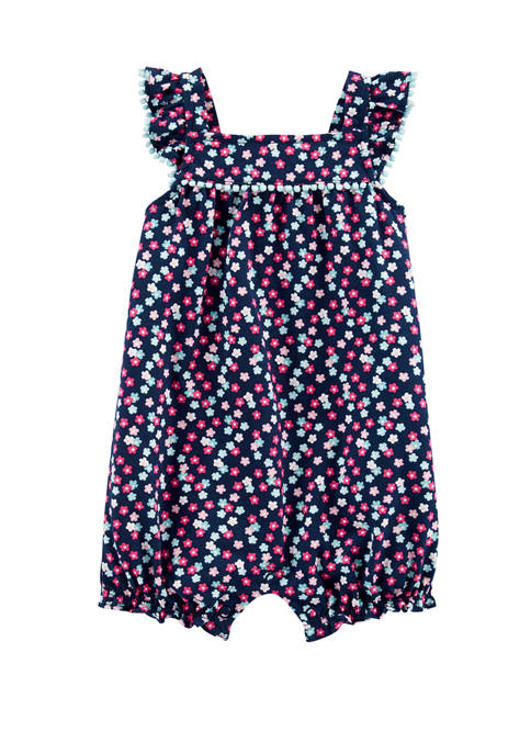 Carter's® Baby Girls Floral Bubble Romper
