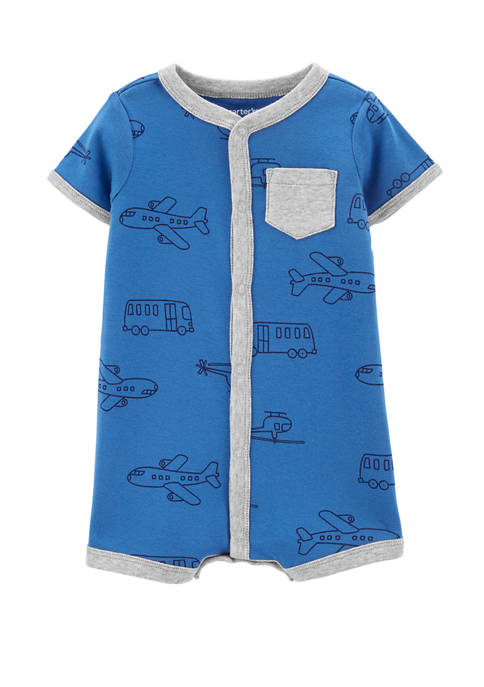 Carter's® Baby Boys Airplane Snap-Up Romper