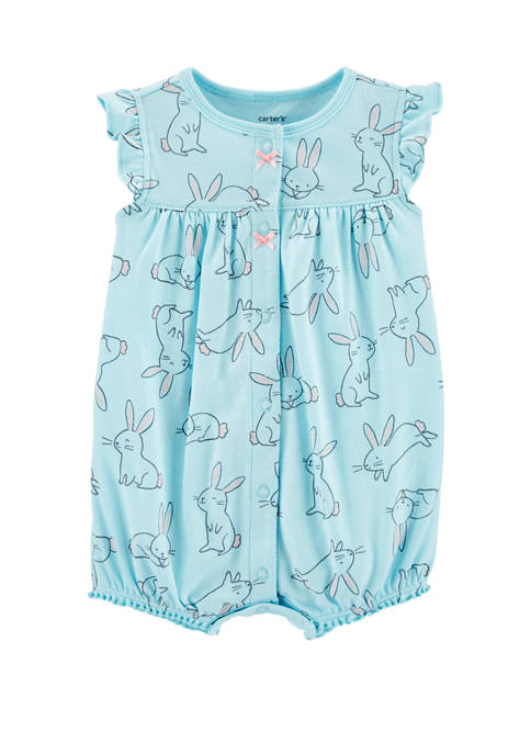 Carter's® Baby Girls Bunny Snap-Up Romper