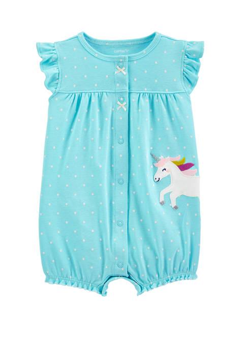 Carter's® Baby Girls Unicorn Snap Up Romper