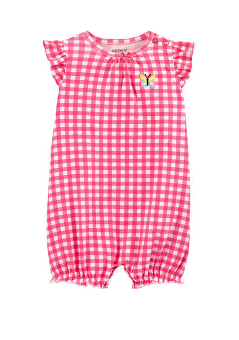 Carter's® Baby Girls Front Gingham Romper