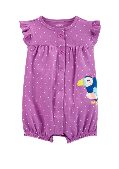 Carter's® Baby Girls Polka Dot Toucan Snap Up