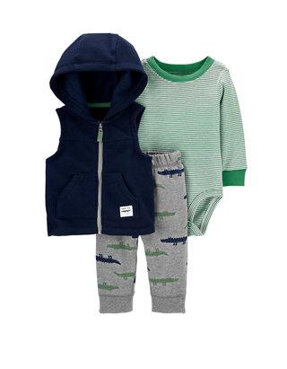 Carter/'s Baby Boys/' Vest Sets Dino Vest Set Green Newborn