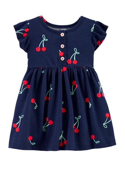 Carter's® Baby Girls Cherry Jersey DressSet