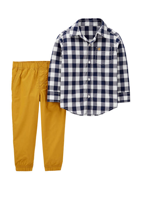 Carter's® Baby Boys 2 Piece Gingham Button Front