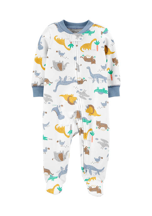 Carter's® Baby Boys Dinosaurs 2-Way Zip Cotton Sleep