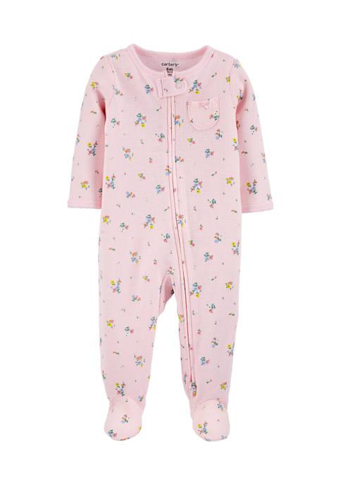 Carter's® Baby Boys Floral 2-Way Zip Thermal Sleep