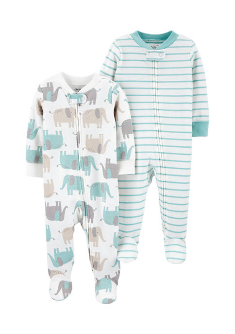 Carter's® Baby Boys 2-Pack Zip-Up Cotton Sleep and