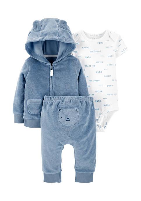 Carter's® Baby Boys 3-Piece Bear Little Jacket Set