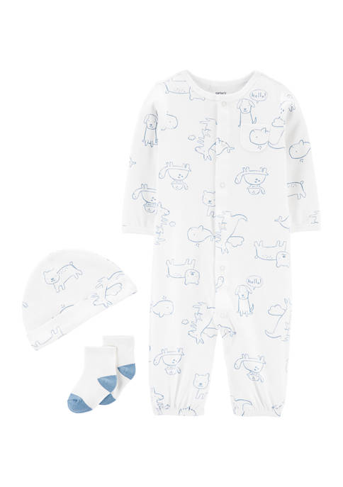 Carter's® Baby Boys 3-Piece Take-Me-Home Converter Gown Set
