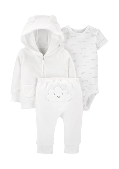 Carter's® Baby 3-Piece Cloud Little Jacket Set