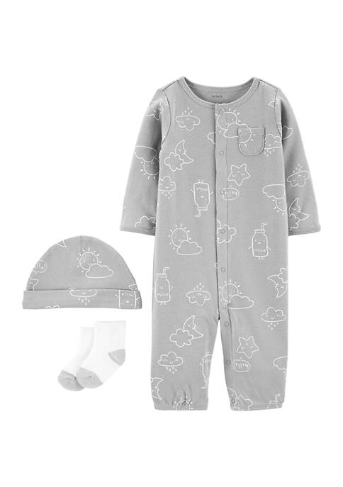 Baby 3-Piece Take-Me-Home Converter Gown Set