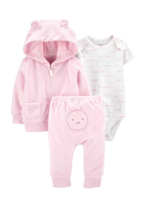 Carter's® Baby Girls 3-Piece Sun Little Jacket Set