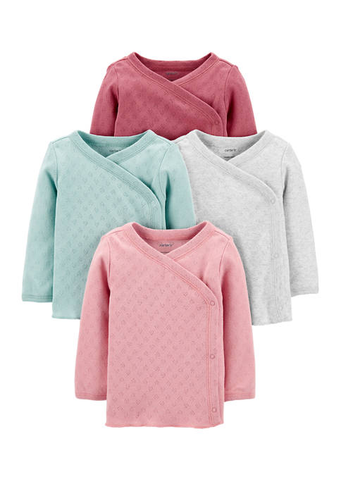 Carter's® Baby Girls 4 Pack Side Snap Tops