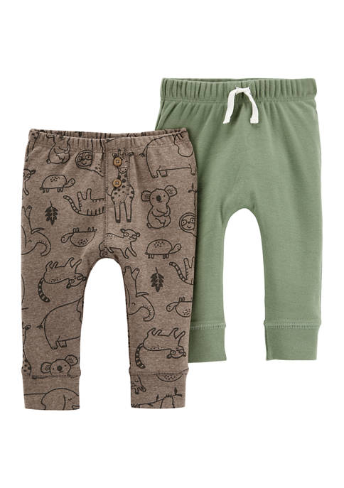 Carter's® Baby Boys 2 Pack Pull On Pants