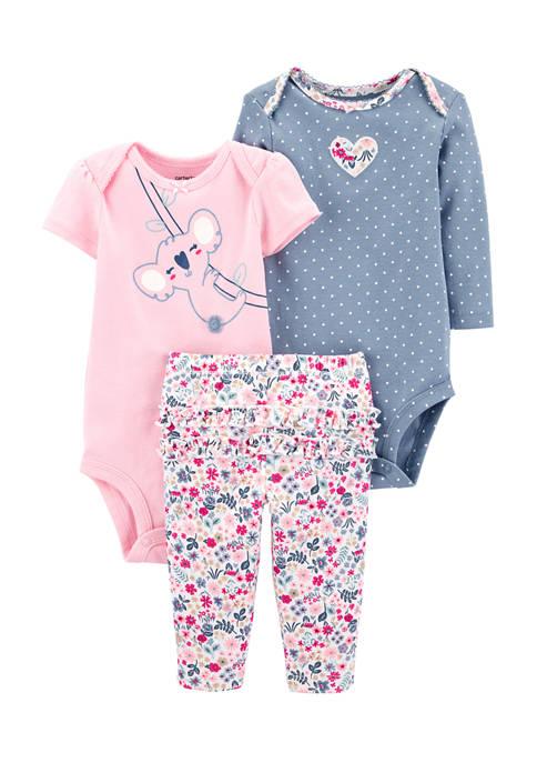 Carter's® Baby Girls 3 Piece Koala Little Character