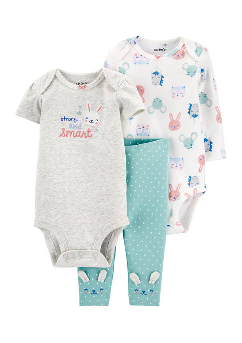 Carter's® Baby Girls 3 Piece Bunny Little Character