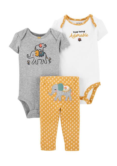 Baby Girls 3 Piece Elephant Little Character Set