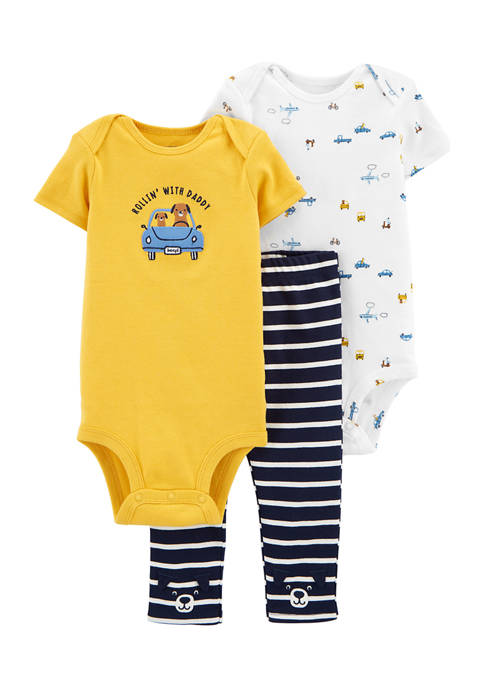 Carter's® Baby Boys 3-Piece Cars Little Character Set