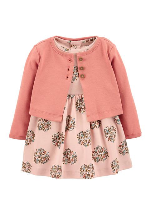 Carter's® Baby Girls 2 Piece Floral Bodysuit Dress