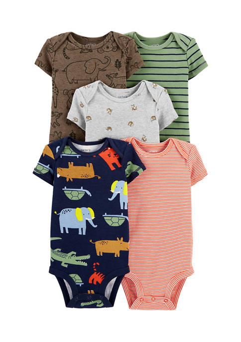 Carter's® Baby Boys 5 Pack Safari Original Bodysuits