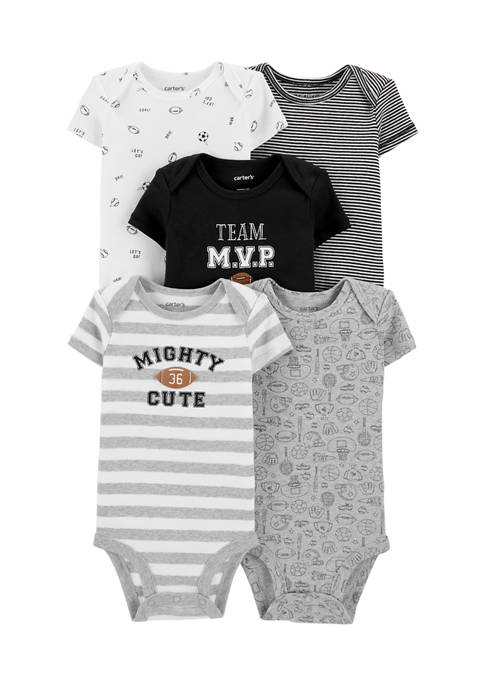 Carter's® Baby Boys 5 Pack Sports Original Bodysuits
