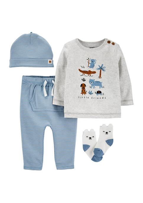 Carter's® Baby Boys 4 Piece Animal Take-Me-Home Set
