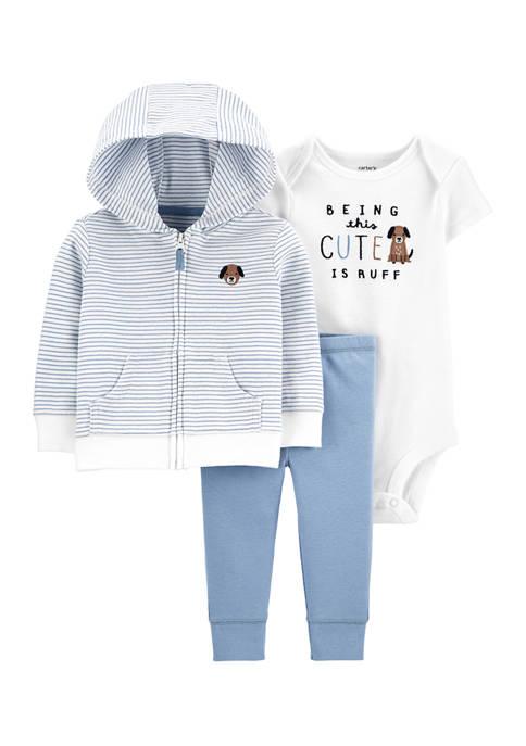 Carter's® Baby Boys 3 Piece Dog Little Jacket