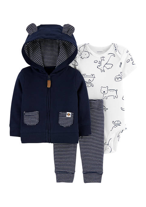 Carter's® Baby Boys 3 Piece Animals Little Jacket