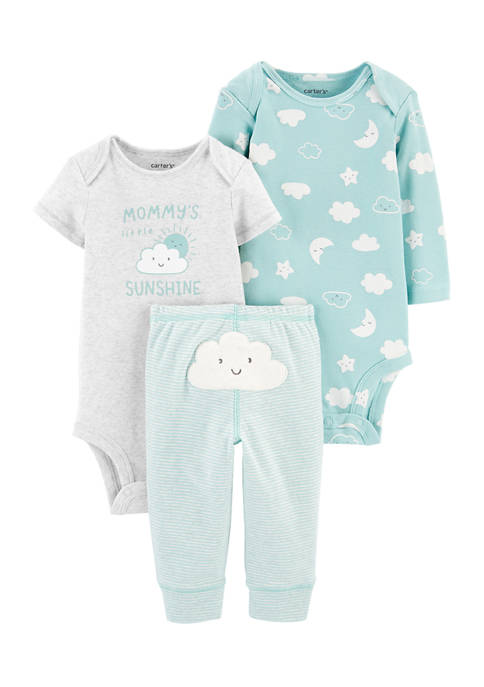Carter's® Baby 3 Piece Cloud Little Character Set