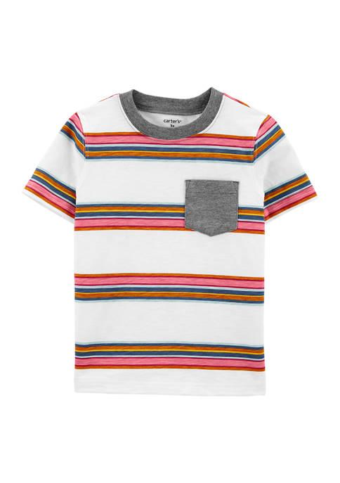 Carter's® Baby Boys Multi Stripe Pocket T-Shirt