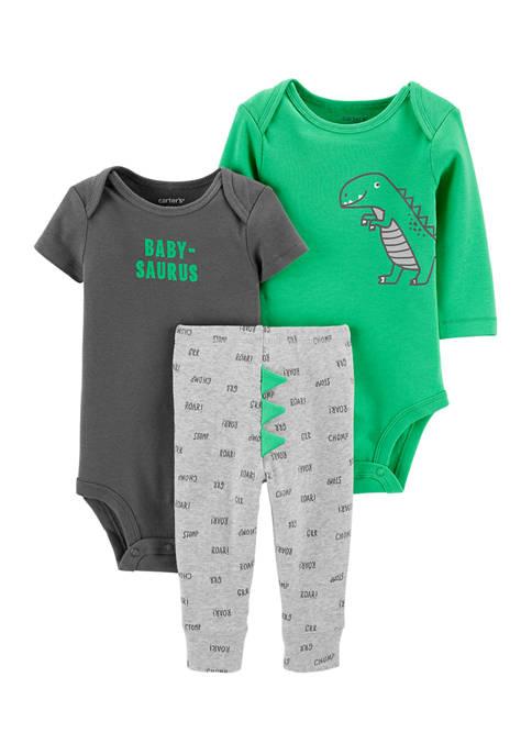Carter's® Baby Boys 3 Piece Dinosaur Little Character