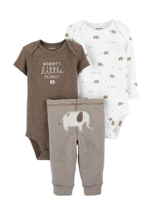 Carter's® Baby Boys 3 Piece Elephant Little Character