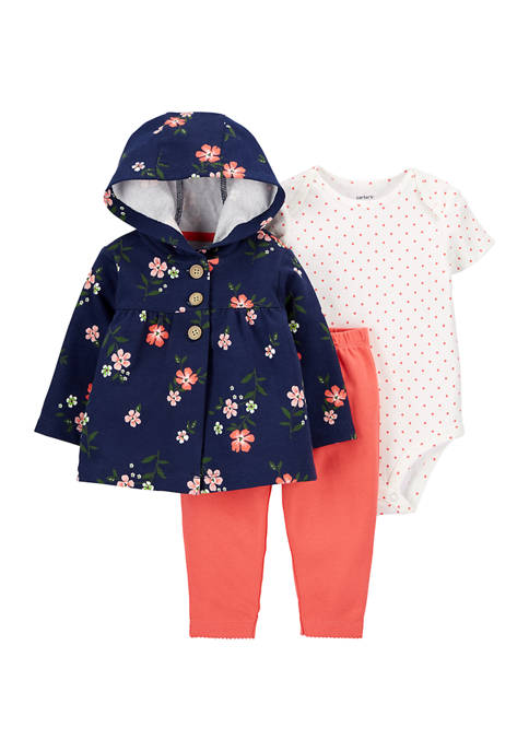 Carter's® Baby Girls 3-Piece Floral Little Cardigan Set