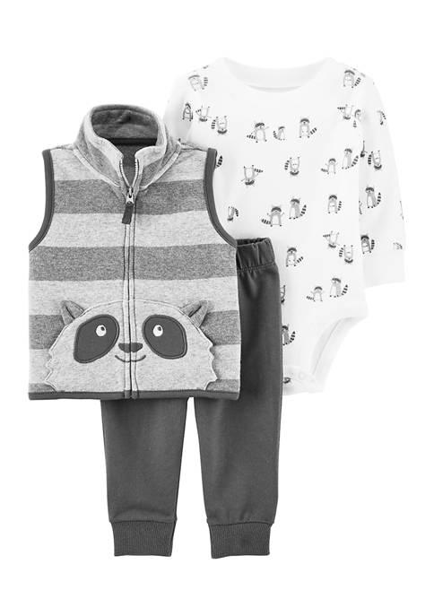 Baby Boys 3-Piece Little Vest Set