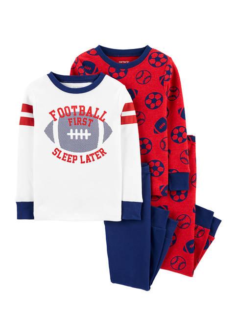 Carter's® Baby Boys 4-Piece Football Snug Fit Cotton