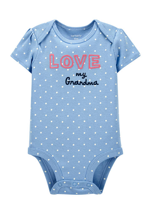 Baby Girls Love Slogan Bodysuit