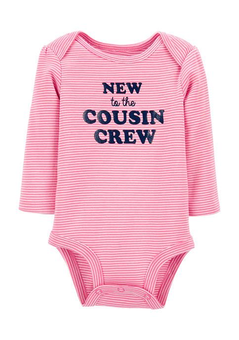 Baby Girls New Cousin Crew Bodysuit