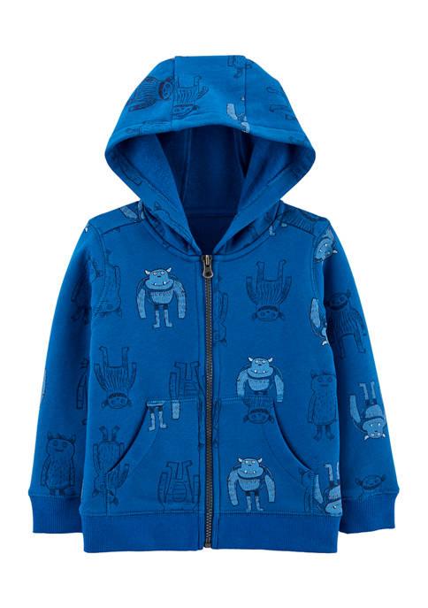 Carter's® Baby Boys Monster Zip-Up Fleece-Lined Hoodie