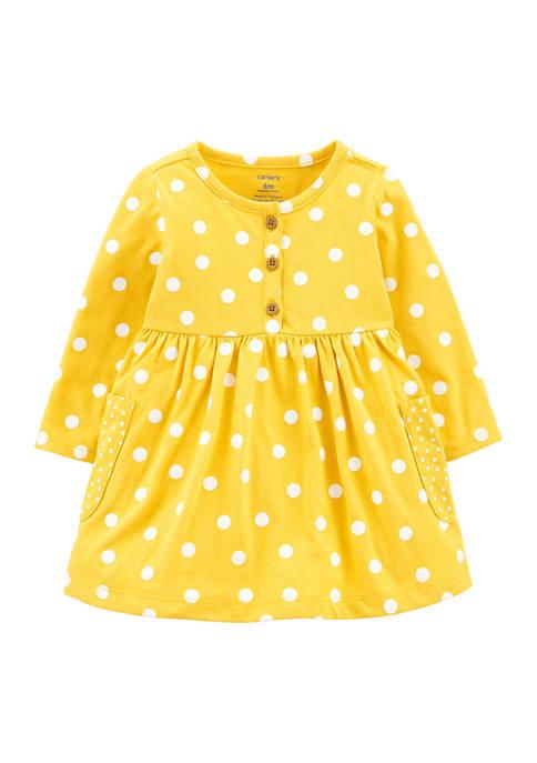 Carter's® Baby Girls Polka Dot Jersey Dress