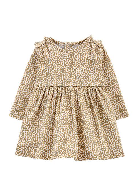 Carter's® Baby Girls Leopard Print Jersey Dress